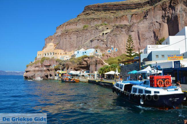 De oude haven van Fira